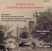 CD: Gordon Jacob - Chamber Music for Clarinet