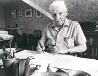 Gordon Jacob at his desk
