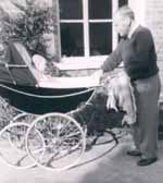 Gordon Jacob pushing pram