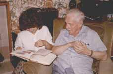 Gordon Jacob with his daughter-in-law Annette