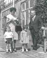 Gordon Jacob with wife Margaret and children